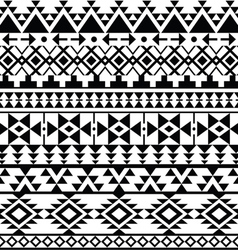 Seamless black Navajo print Aztec pattern Tribal vector image