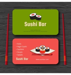 Sushi card vector image vector image