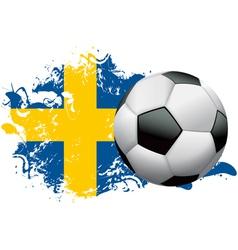 Sweden Soccer Grunge vector image vector image