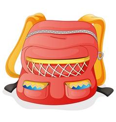 a red school bag vector image vector image