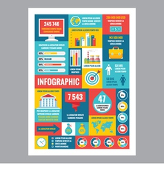 Business infographic - poster in flat design style vector image vector image