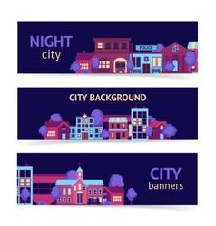 City banner horizontal vector image vector image