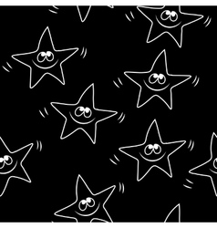 Funny sketching star Seamless pattern Baby star vector image vector image