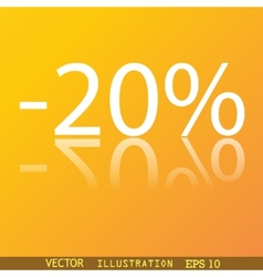 20 percent discount icon symbol Flat modern web vector image