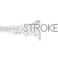 A strokewhy it is so important to read this text vector