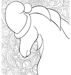 adult coloring bookpage a cute horse wearing a vector image