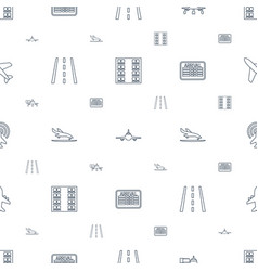 airline icons pattern seamless white background vector image