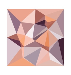 Almond beige abstract low polygon background vector