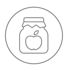 Apple jam jar line icon vector