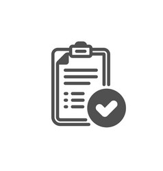 Approved report icon accepted document sign vector