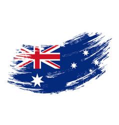 Australian flag grunge brush background vector