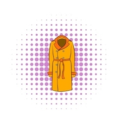 Autumn coat icon pop-art style vector