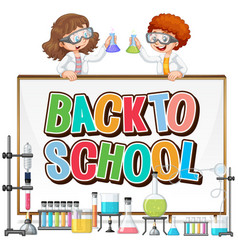 back to school template with science theme vector image