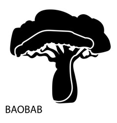 Baobab icon simple style vector