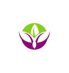 beauty lotus abstract logo vector image