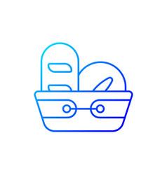 bread basket gradient linear icon vector image