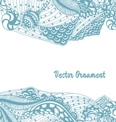 Card with ornaments hand-drawn vector