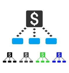 cashout scheme flat icon vector image