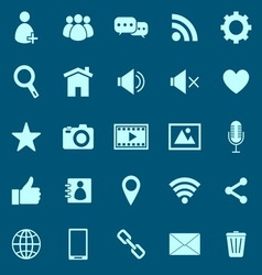 Chat color icons on blue background vector