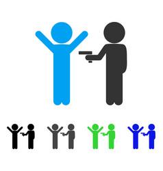 children crime flat icon vector image
