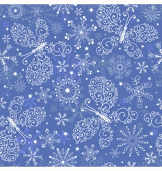 Christmas repeating pattern vector image
