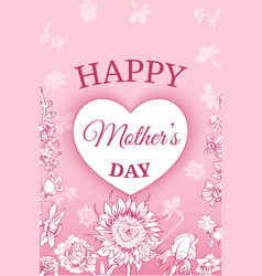 colorful floral mothers day poster vector image