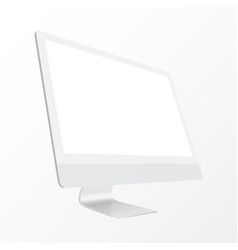 computer display with blank screen vector image