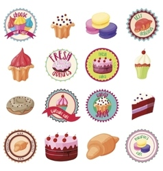 Confectionery icons set cartoon style vector image