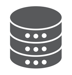 Database glyph icon data and analytics server vector