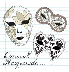 decorative masks vector image