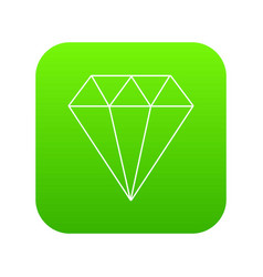 diamond icon green vector image