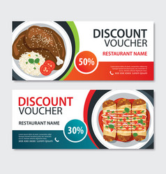 Discount voucher mexican food template design set vector
