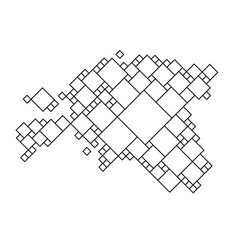 Estonia map from black pattern from a grid of vector