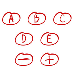 evaluation of exam rating vector image