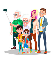 Family portrait big happy family vector