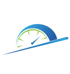 Fast time concept rush hour logo training vector