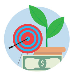 financial target icon vector image vector image