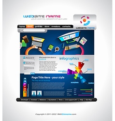 Flat style website template - elegant design vector
