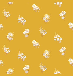 flowers daisy vintage colors seamless vector image