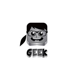 Geek girl avatar portrait vector