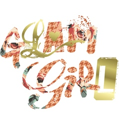 Glam Girl vector image