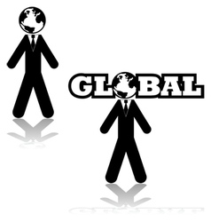 Global businessman vector