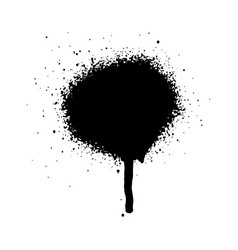 Graffiti grunge spray design element in black and vector