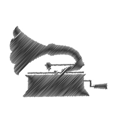 Gramophone drawing isolated icon vector