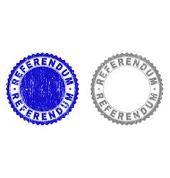 Grunge referendum textured stamp seals vector