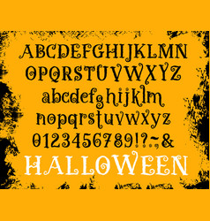 halloween cartoon type font set vector image