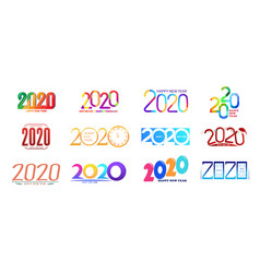 happy new year colored vector image