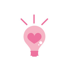 Happy valentines day bulb heart love creativity vector