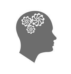 head icon for mental health vector image