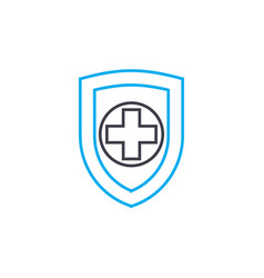 health insurance thin line stroke icon vector image
